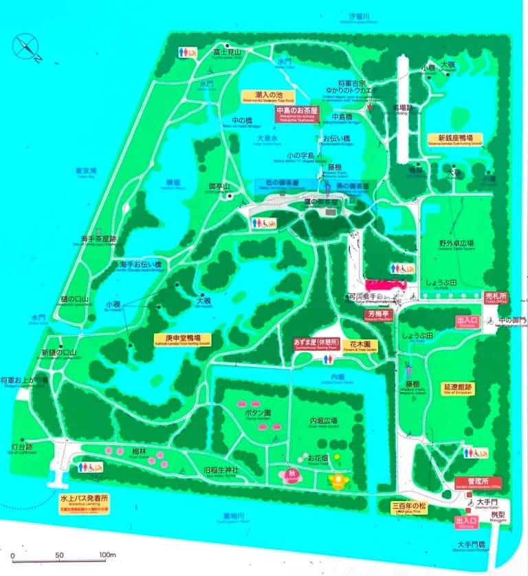浜離宮恩賜庭園マップ