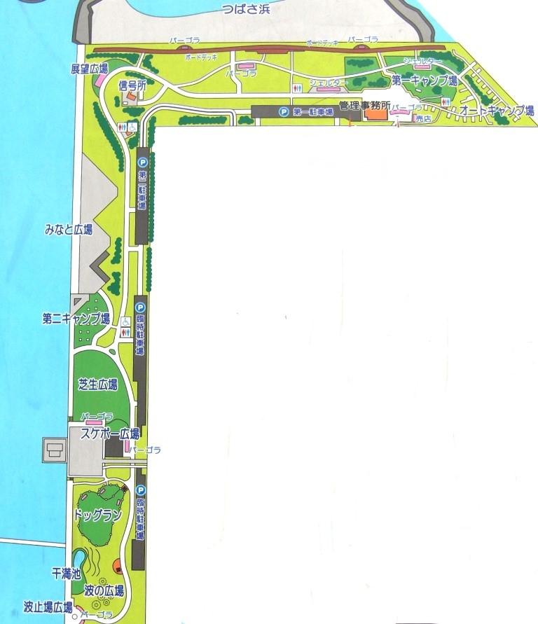 城南島海浜公園マップ