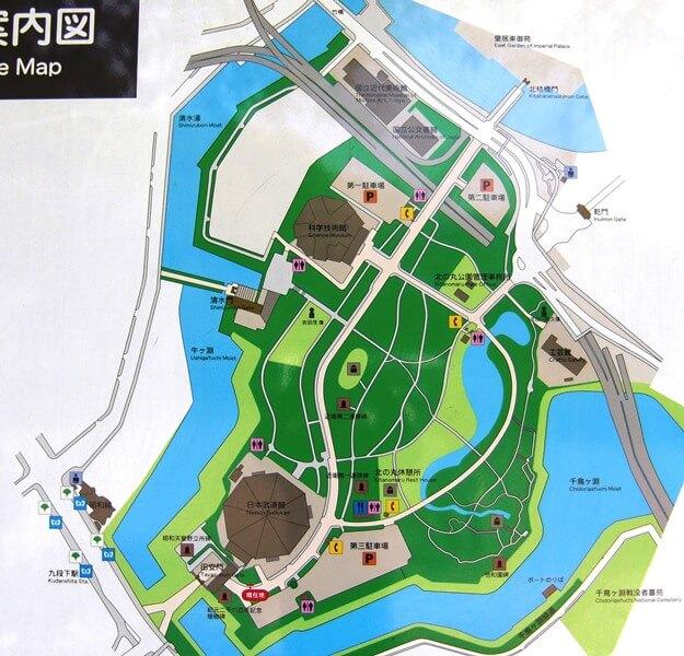 北の丸公園マップ