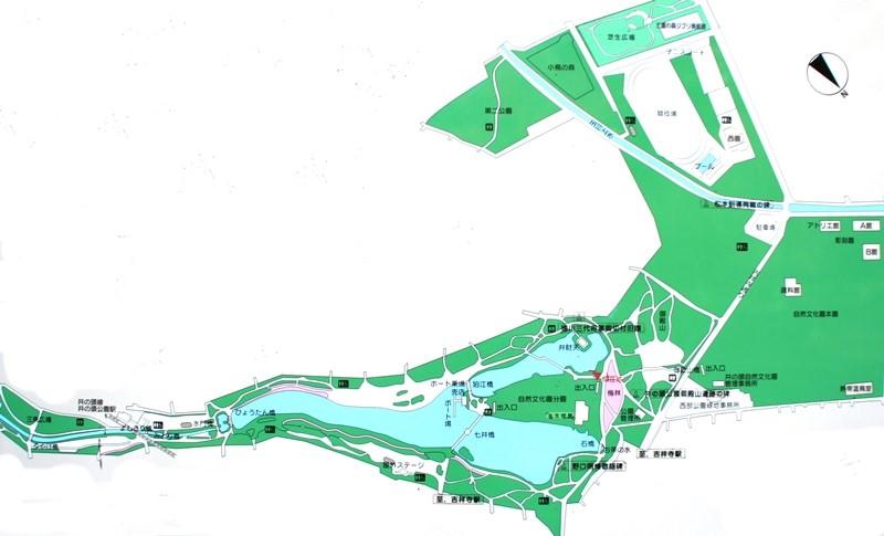 井の頭恩賜公園マップ