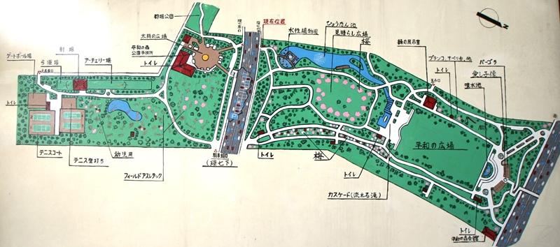 平和の森公園マップ