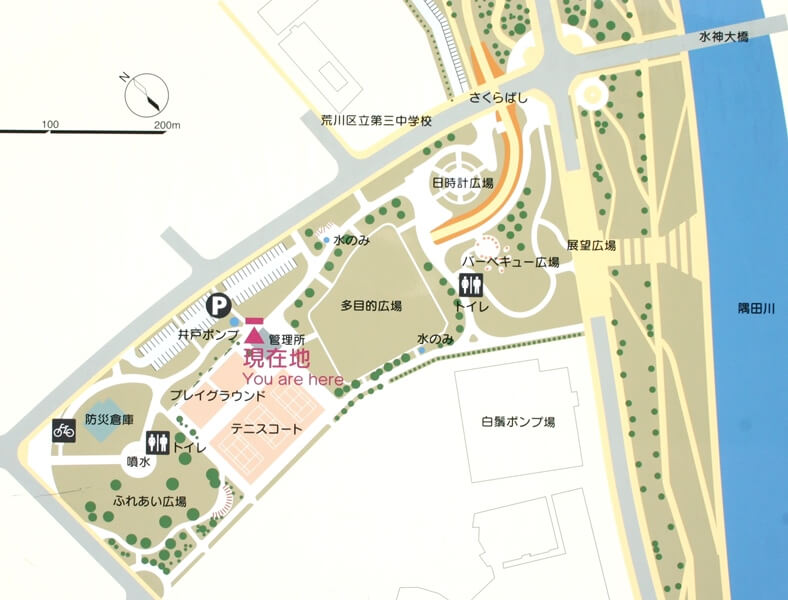 汐入公園マップ