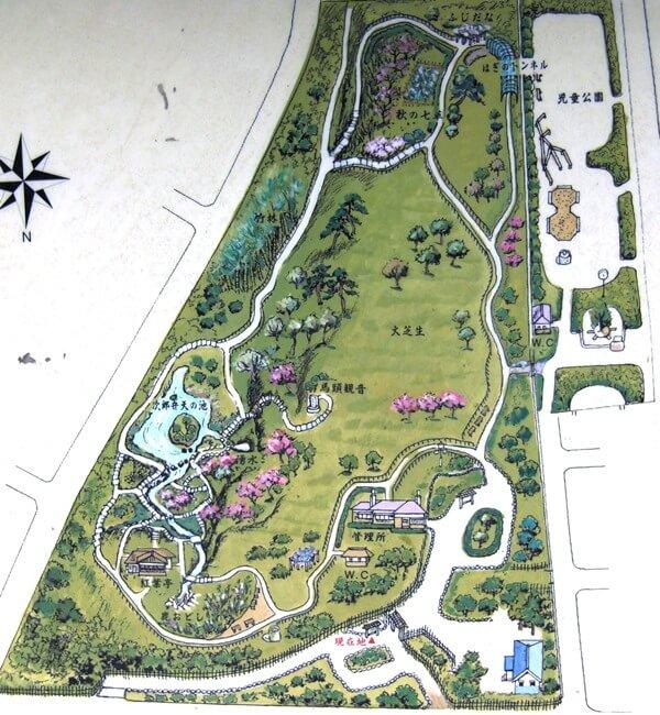 殿ヶ谷戸庭園マップ