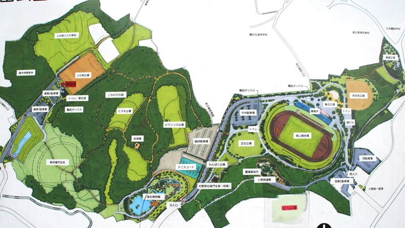 野津田公園マップ