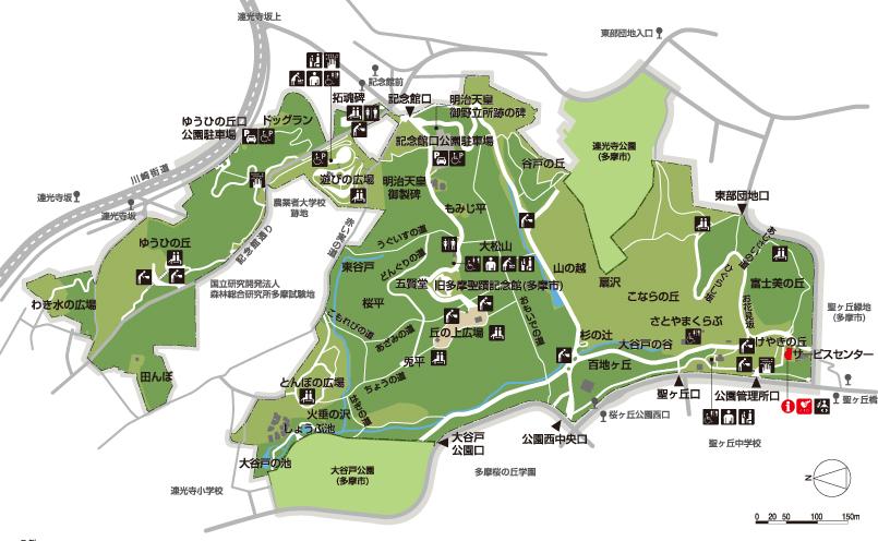 桜ヶ丘公園マップ