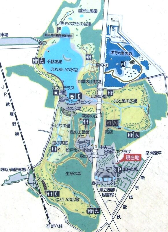 21世紀の森と広場マップ