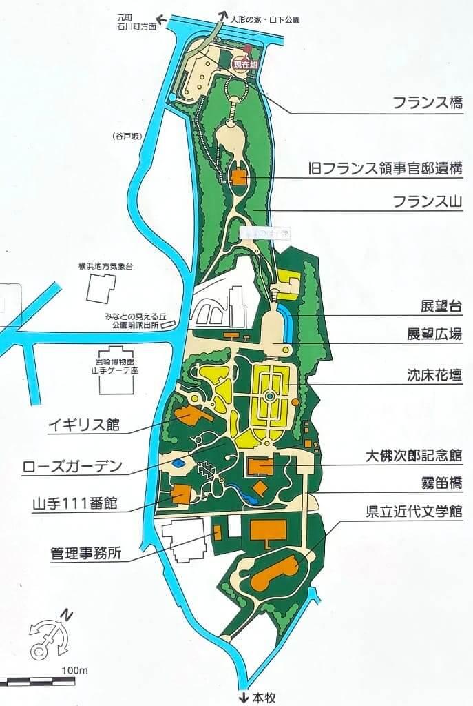 港の見える丘公園マップ