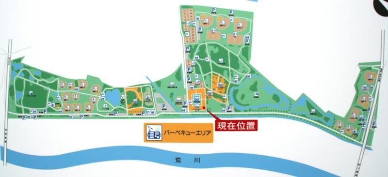 秋ヶ瀬公園のマップ