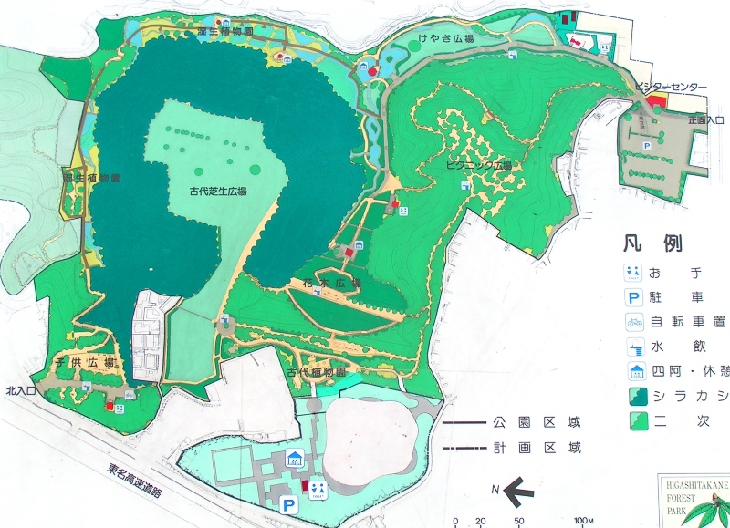 東高根森林公園マップ