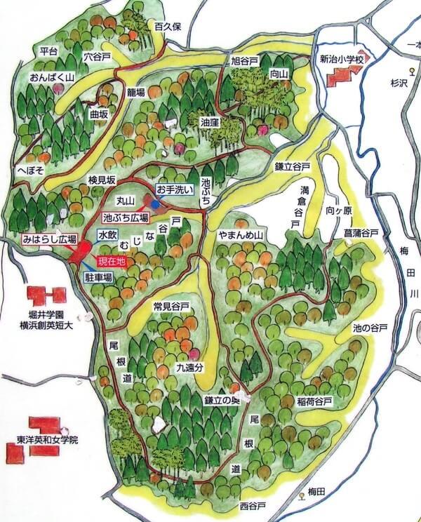 新治市民の森マップ