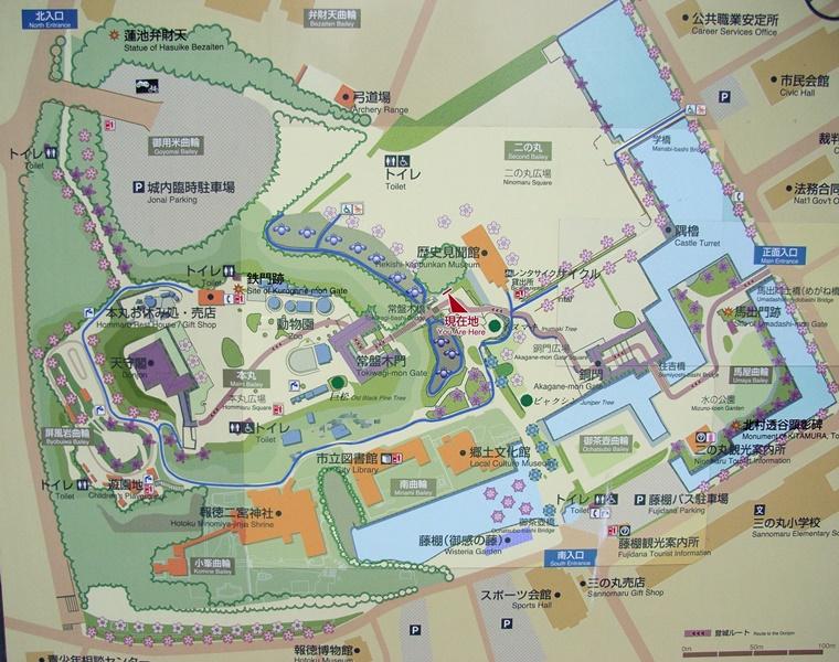 小田原城址公園マップ