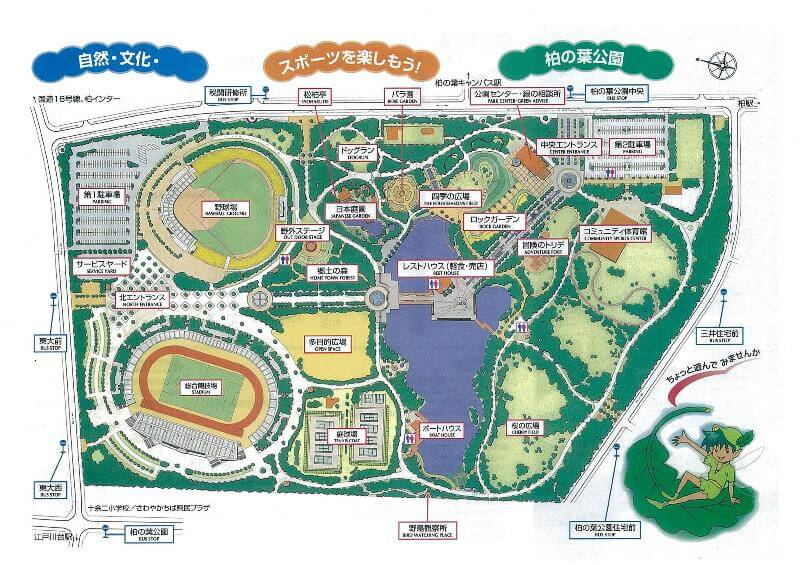柏の葉公園マップ