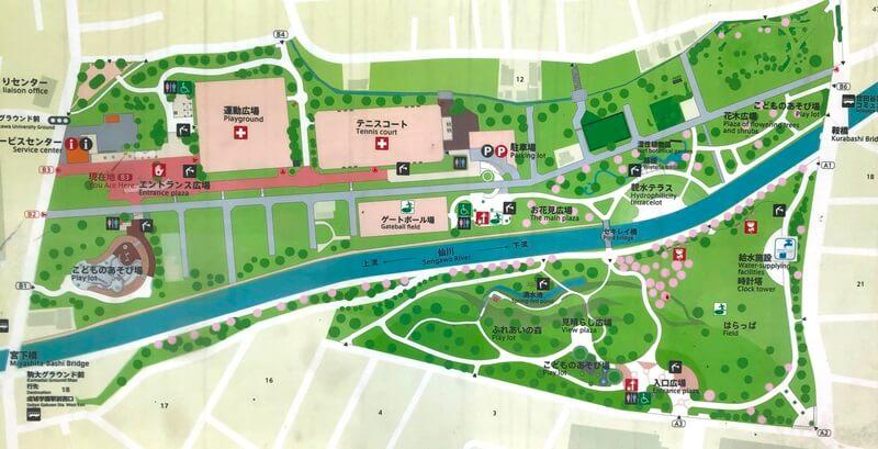 祖師谷公園マップ