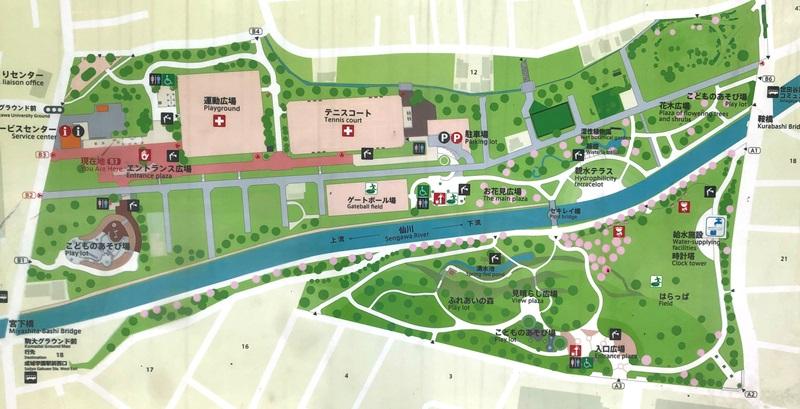 祖師谷公園の地図