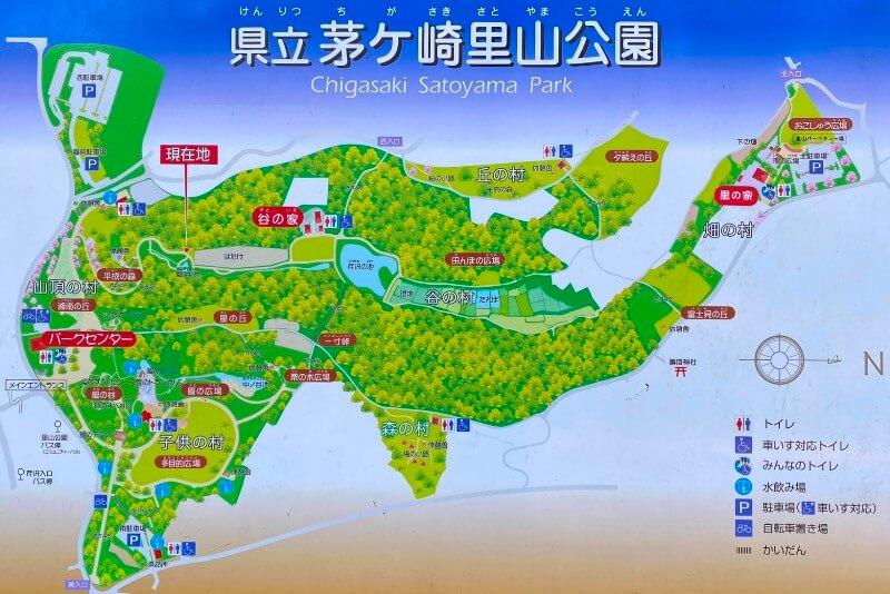 茅ヶ崎里山公園マップ