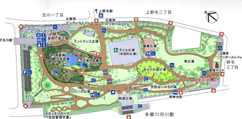 二子多摩川公園マップ