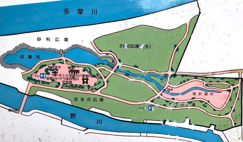 兵庫島公園のマップ