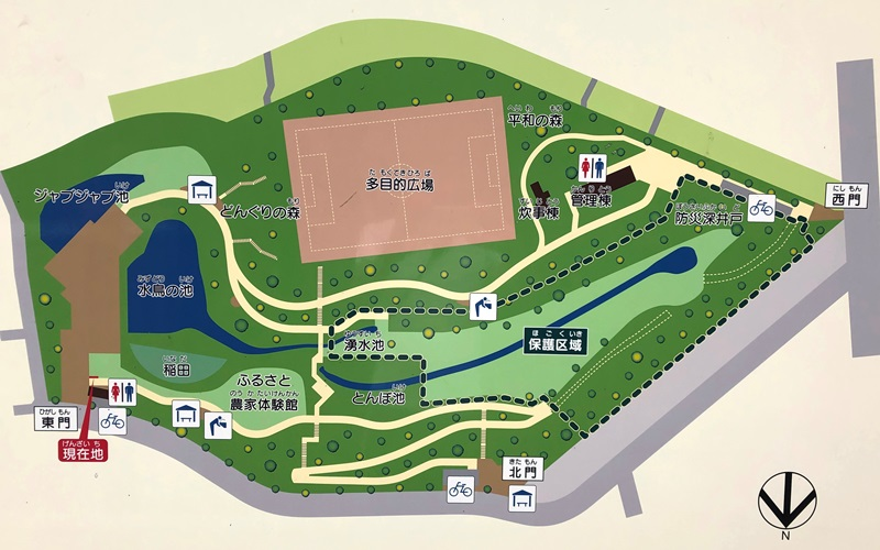 赤羽自然観察公園マップ