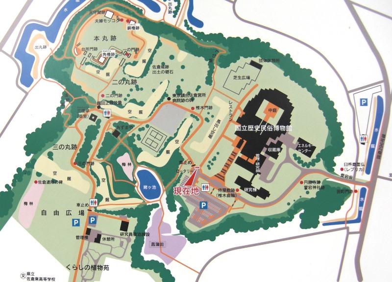 佐倉城址公園マップ