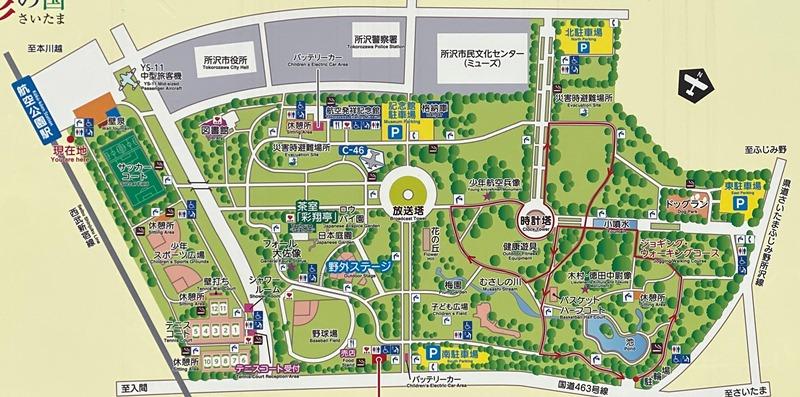 所沢航空記念公園マップ