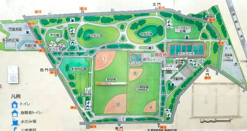篠崎公園マップ