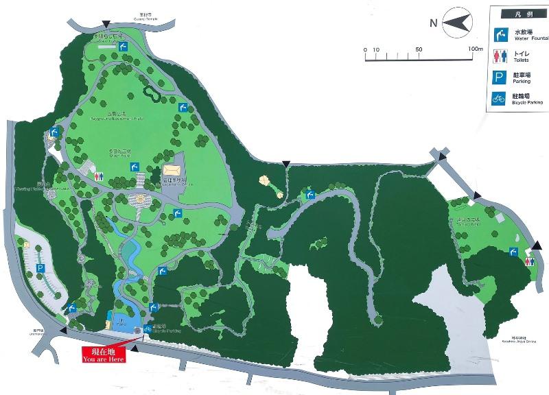 王禅寺ふるさと公園マップ