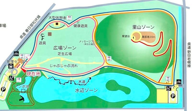 まつぶし緑の丘公園マップ