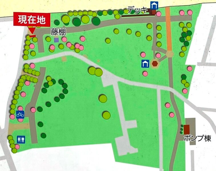 東伏見公園マップ