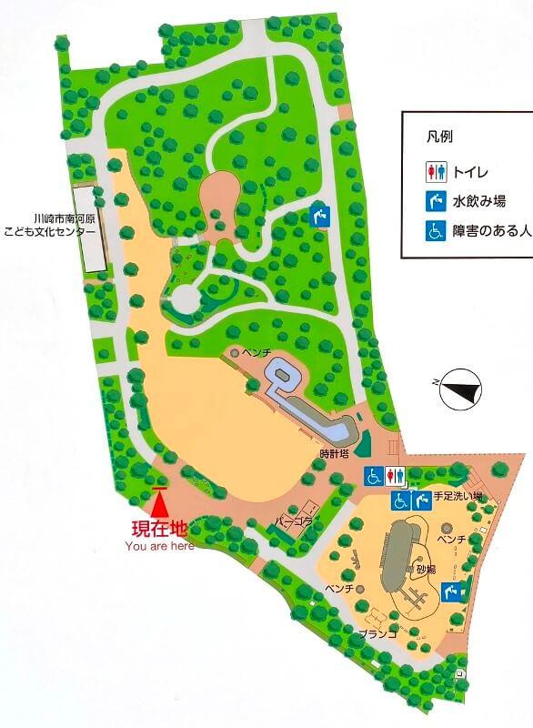 南河原公園マップ