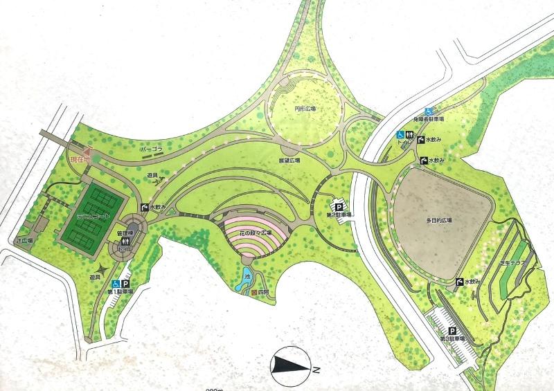 若葉台公園マップ