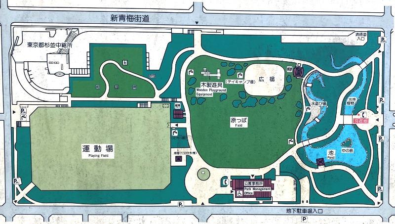 井草森公園マップ