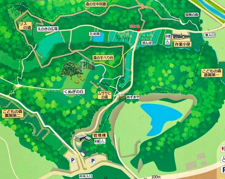 あつぎこどもの森公園マップ