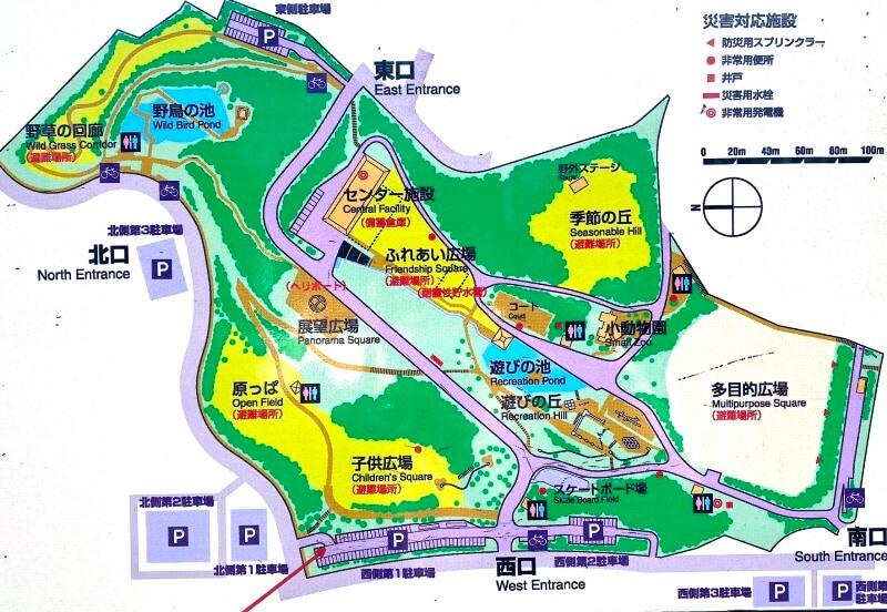 ぼうさいの丘公園マップ