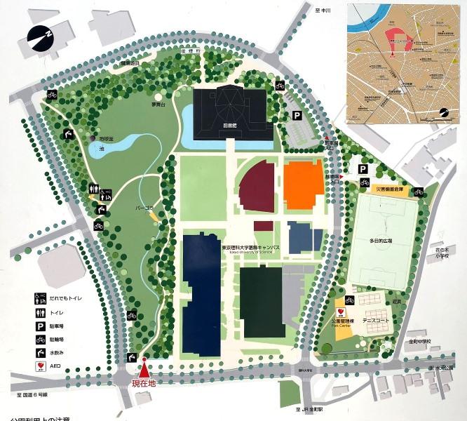 にいじゅくみらい公園マップ