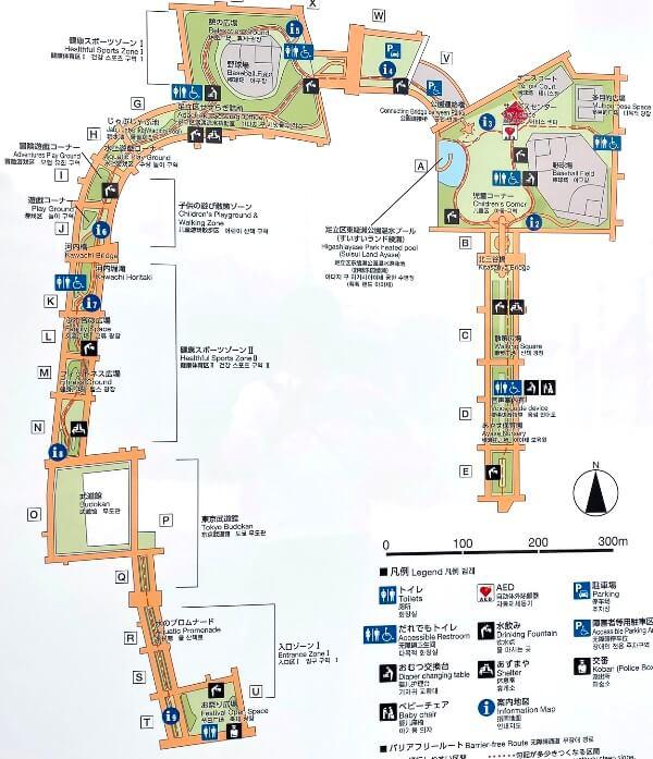 東綾瀬公園マップ