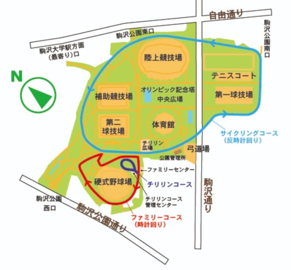 サイクリングコースマップ