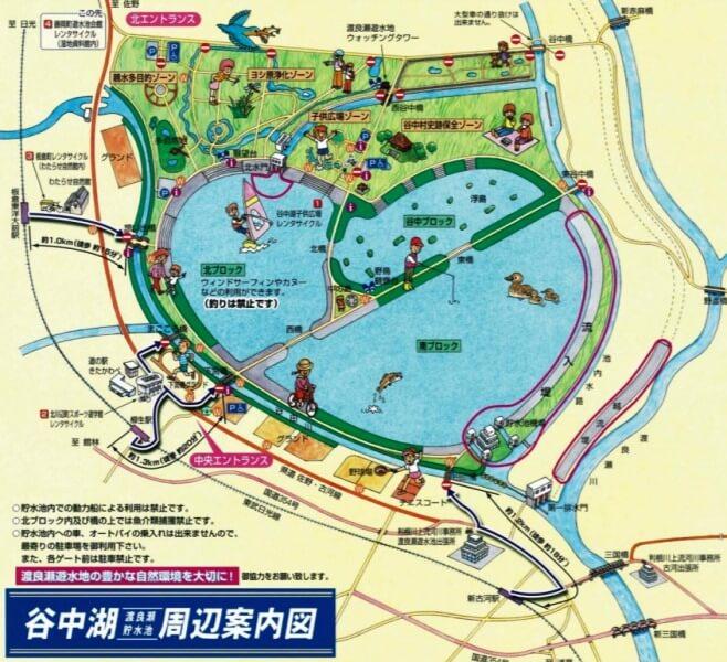 谷中湖マップ