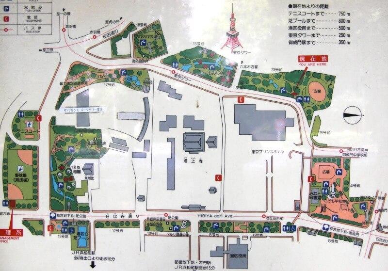 芝公園マップ