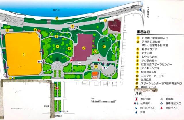 浜町公園マップ
